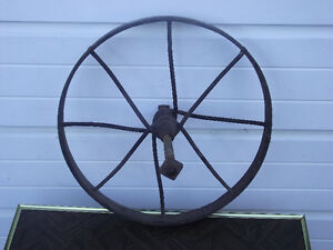 Antique Steel Spoke Wheel Barrow Wheel