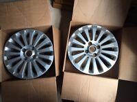 2 x Ford Fiesta 6.5 x 16 inch 15 spoke alloy wheel for 2008