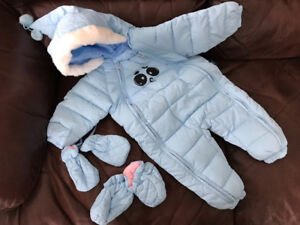 Brand New Baby Blue Characture snow suit