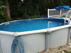 18 x 12 pool with heater/deck