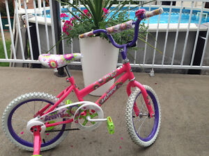 Vélo roues 16 pouces pour fillette