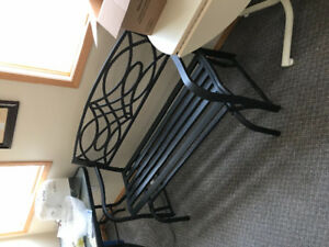 Metal Glider Patio Bench