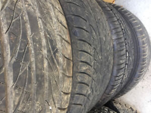4 sport summer tires with mags on size 225/50zR16