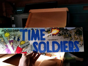 Time Soldier Board, Marquee and Bezel arcade machine pinball
