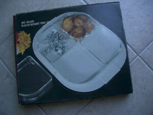 Snacks Serving Tray with 4 Removable Compartments-Mint Condition