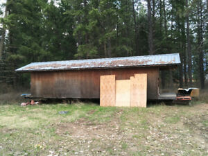 BUILDING, well-built, rafters, metal roof, w/hitch, 35x12 feet