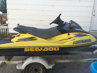 2001 Seadoo 951 RX PROJECT with double trailer