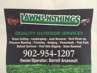 Grass cutting,hedging,seeding,pressure washing