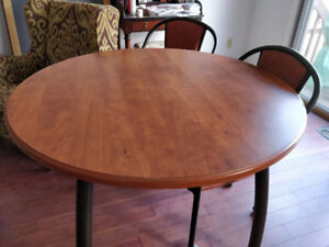 "42"" breakfast table & 3 chairs  for sale"