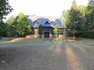 Real Log Building Commercial/Residential 5 Acres Hwy 62 Rare Opp