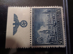 Rare WW2 German stamp with swastika on the rim
