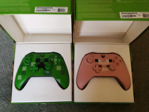 Almost Brand New Xbox One Minecraft Controllers