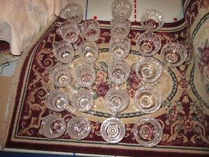 Assembly of Crystal Glasses--23pcs--LISMORE Pattern