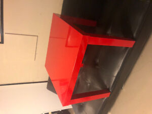 IKEA Lack red gloss side table