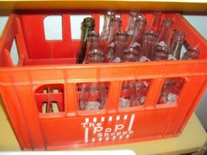 Vintage Pop Shoppe crate with bottles