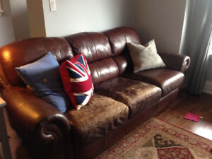 Soft Brown Leather Couches