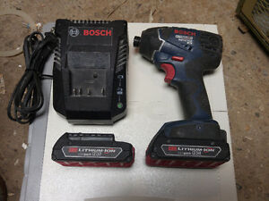 BOSCH IMPACT DRIVER WITH 2 BATTERIES \ CHARGER