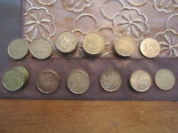 Collection of 48 Canadian commemorative nickel/bronze dollars