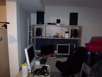 Recording studio available for hire in Kitchener.