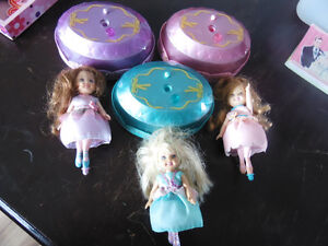 3 dancing barbie princess dolls