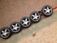 Speedline Alessio 2 set of 5 in Anthracite For Vauxhall Courtenay Nova Corsa Astra