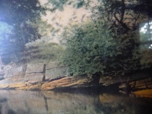 """Antique Colored Photo After Wallace Nutting """"Reflections"""" 1920's Stratford Kitchener Area image 7"""