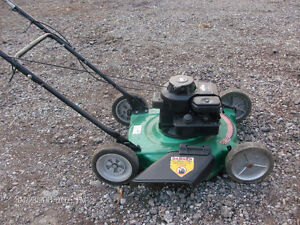 STARTS ONE PULL ,, GOOOD GAS LAWNMOWER ..  ,,, TRACTOR .........