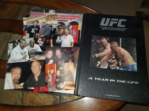 Autographed Ufc first edition book signed Silva Liddell Couture
