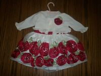A beautiful Christmas dress for a little lady