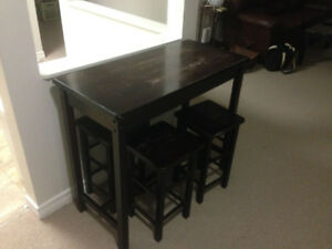 Table with 4 Stools for Sale - Beautiful Antique Look