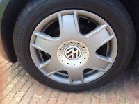 "Bora sport alloy wheels 16"", Newish tyres and centre caps 5x100 VW AUDI VAG"