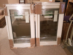 "2 Brand New 29 1/2"" x 49 1/2"" White Casement Windows"