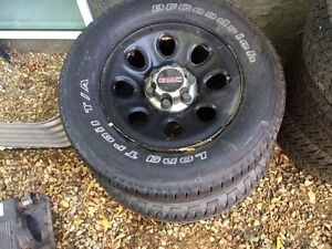 Rims and tire gmc 1500