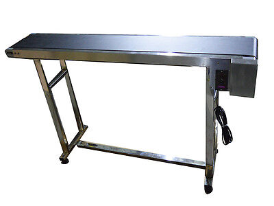 New 110v Powered 59 X 7.8 Belt Conveyor Without Fenceused For Packaging Best