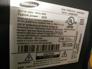 USED SAMSUNG 46`` LED TV FOR PARTS