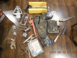 Assorted small hand and power tools