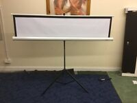 Large Projector Screen On Tripod For Sale