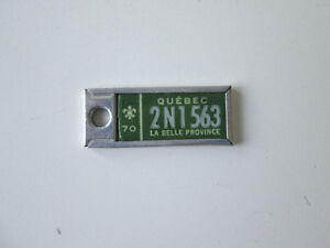 1970 La Belle Province Collectible Mini license plate from Quebe