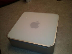 Mac mini with monitor keyboard and mouse