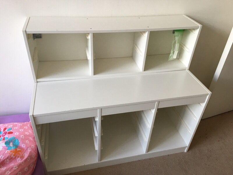 Ikea Trofast White Wall Floor Toy Storage Kids Nursery