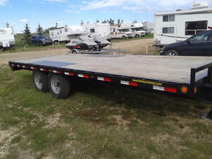 22 ft deck 2016 Looadmax flat deck trailer $5800 OBO