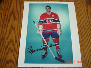 Maurice (Rocket) Autographed Picture