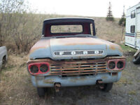 1959 FORD F100 PARTS TRUCK OR RAT ROD OR RESTORATION