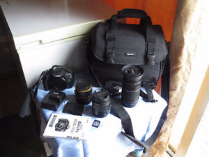 Canon Rebel T5 with 2 lenses and accessories $650 o.b.o.