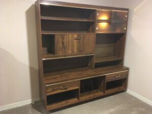 Wall Unit with backlit display