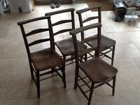 York Elm and Beech Church Chapel Pew Ladderback Chairs