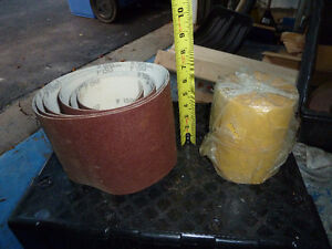 Drum Sander and rolls of emery West Island Greater Montréal image 6