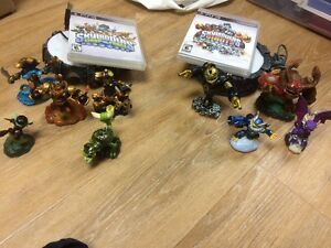 2 jeux Skylanders (giants, swap force) + 9 figurines