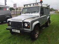 Land Rover defender 110 2.4tdci puma county pack 08reg 1 owner fsh 4x4