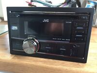 JVC KWR400 Double Din Stereo with USB and Aux